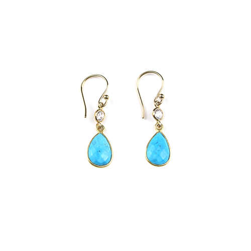 Shiloh Turquoise and Diamond Earrings