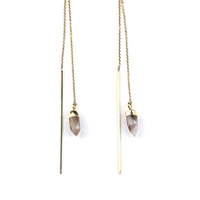 Knox Gold Quartz Ear Threader