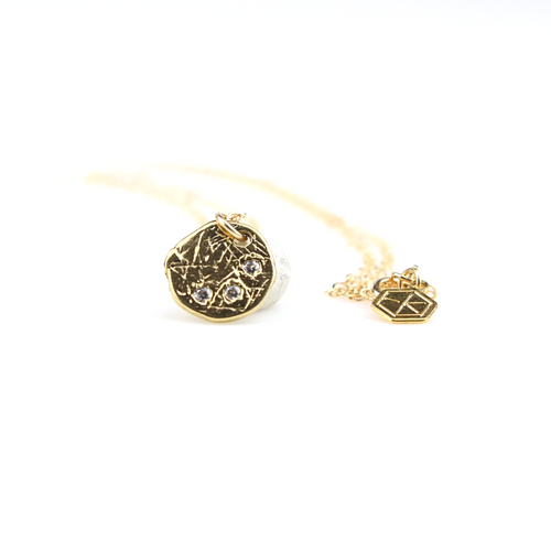 Wish Gold Layering Coin Necklace