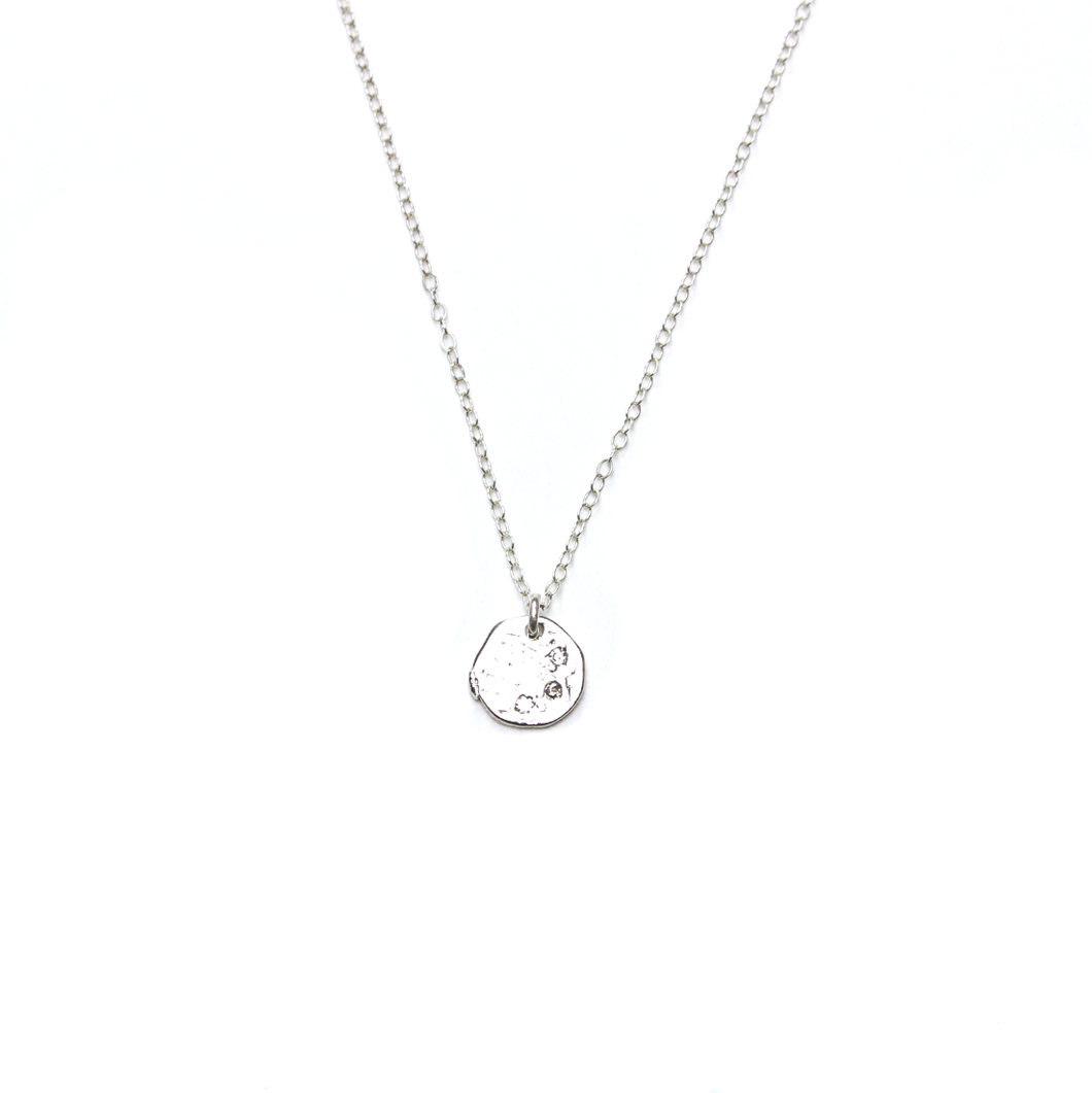 Wish Silver Layering Coin Necklace