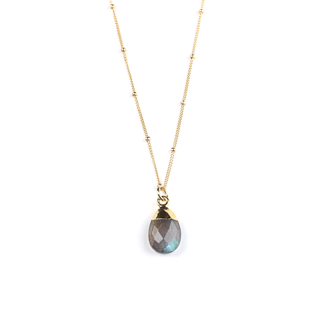 Sophie Gold Dipped Labradorite Necklace