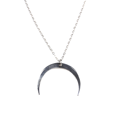 Luna Silver Crescent Moon Necklace