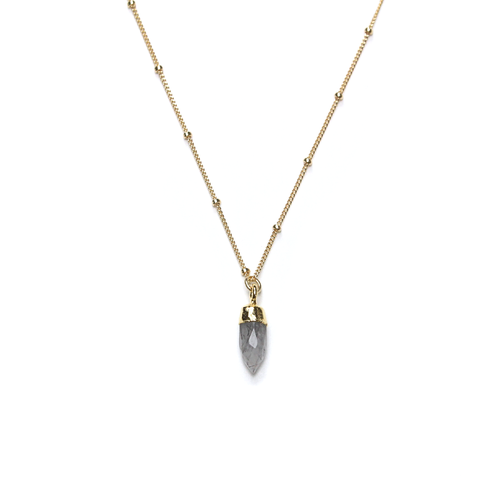 Stella Gold Rutilated Quartz Satellite Necklace