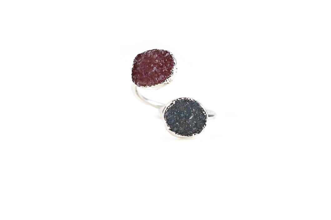 Double Druzy Ring No. 4