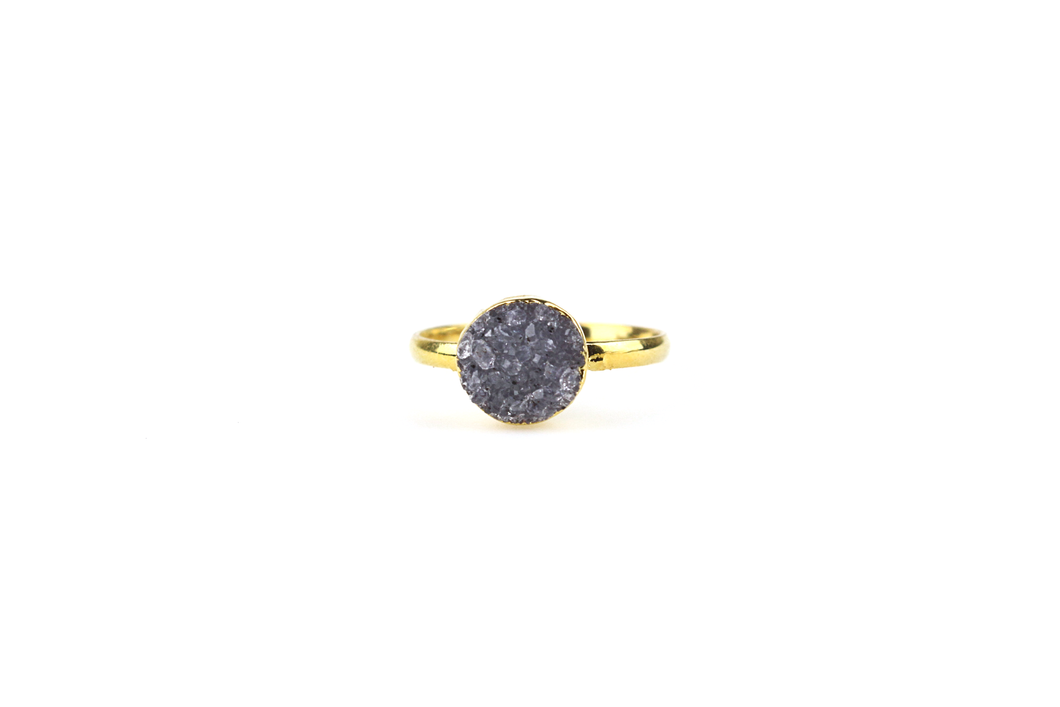 Single Stone Druzy Ring No.3