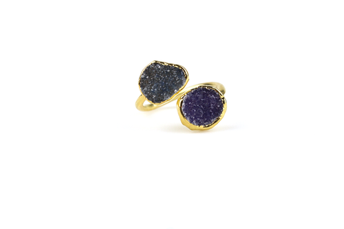 Double Druzy Ring No. 7