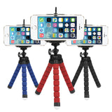Mini Flexible Sponge Tripod for iPhone, Samsung, Xiaomi, & Huawei Mobile Smartphones or DSLR Camera Mount