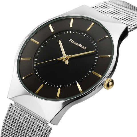 Slimline Classy Men's Watch, Ultra Thin, Waterproof Sport (2017)