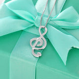 Musical Note Necklace/Pendant Jewelry for the Elegant Women. (925 Sterling Silver)