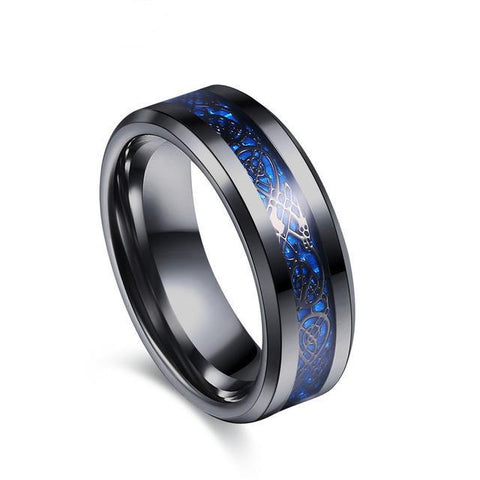 Celtic Tungsten Carbide Dragon Ring for Men, Stainless Steel (2017)