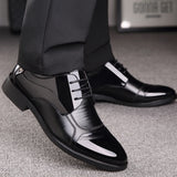 Oxford Business, Genuine Leather, High Quality, Breathable, Men's Dress Shoes