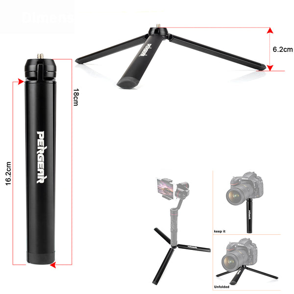 Aluminum Mini Table Tripod Leg, Selfie Stick, Extendable Monopod Cameras