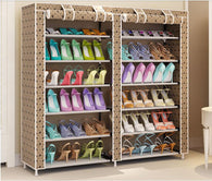 Shoe Rack. Multi Row, Oxford Cloth.