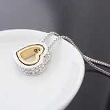 Gold-Color Austrian Crystal Heart Necklaces/Pendants for Women (2017)