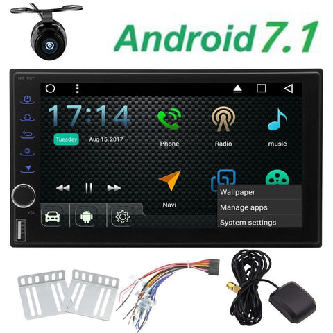 Free backup camera + Android 7.1 Octa Core Car computerized Radio. Bluetooth, GPS Navigation, 3G WIFI.
