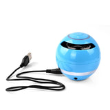 Bluetooth Speaker, Wireless, Portable, Mini Subwoofer w/ LED.Bluetooth Receiver w/ FM Radio LED, TF Card