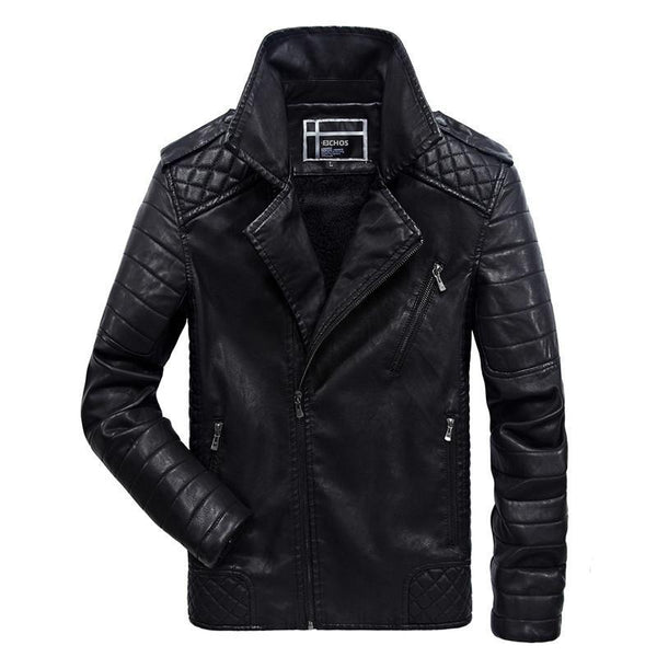 Men's Leather, Winter Jacket. Fleece Lining Coat, Warm Suede, Zipper Jacket (High Quality).