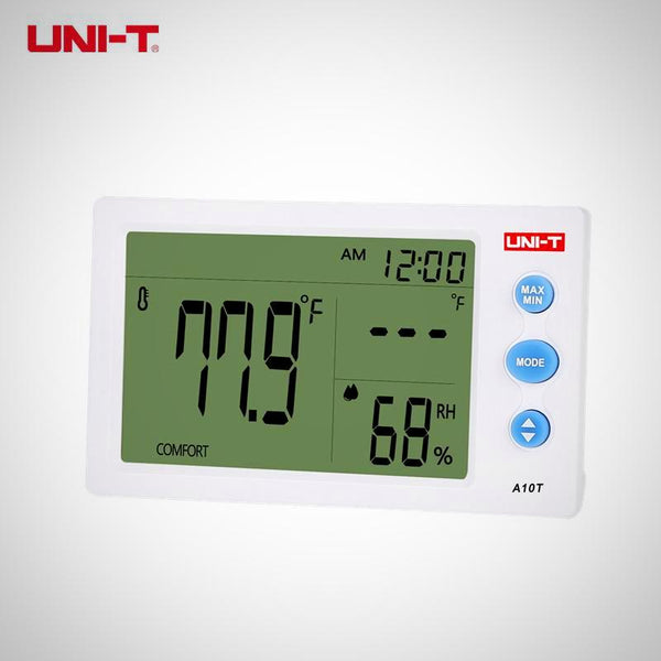 Thermometer (Temperature), Hygrometer (Humidity) Meter - Weather Station w/ Alarm Clock Function ( UNI-T A10T)