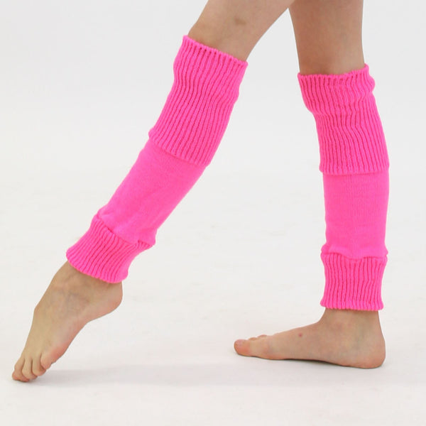 "15"" ACRYLIC ANKLEWARMERS Knitwear Dancers World Fluorescent Pink"