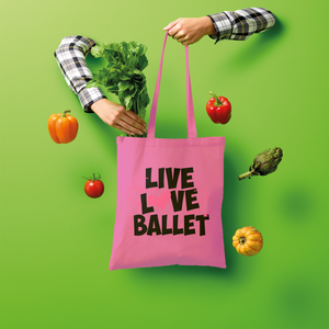 Live Love Ballet Shopper Tote Bag