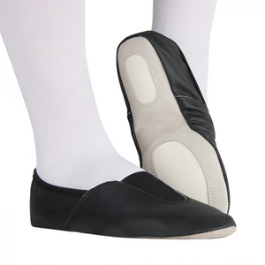 RUMPF BLACK LEATHER SPLIT SOLE TRAMPOLINING / GYMNASTIC SHOES
