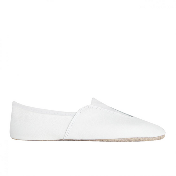 RUMPF WHITE LEATHER SPLIT SOLE TRAMPOLINING / GYMNASTIC SHOES