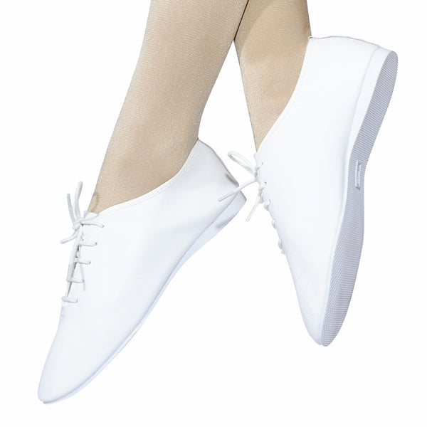 ROCH VALLEY WHITE FULL RUBBER SOLE JAZZ SHOES