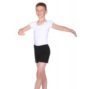 BBO DANCE BOYS WHITE COTTON SHORT SLEEVE EXAM LEOTARD
