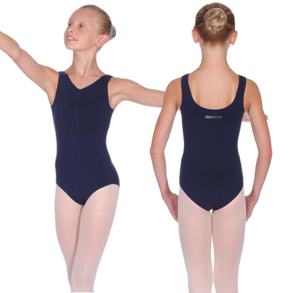 NAVY SLEEVELESS LEOTARD FOR BBO DANCE BALLET UNIFORM - GRADES 4 & 5