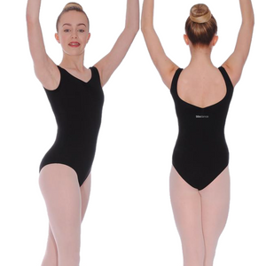 BLACK LEOTARD FOR BBO DANCE BALLET UNIFORM - GRADES 6, 7 & 8