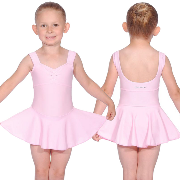 SLEEVELESS SKIRTED LEOTARD FOR BBO DANCE BALLET UNIFORM - INTRO, PRE-PRIMARY & PRIMARY GRADES