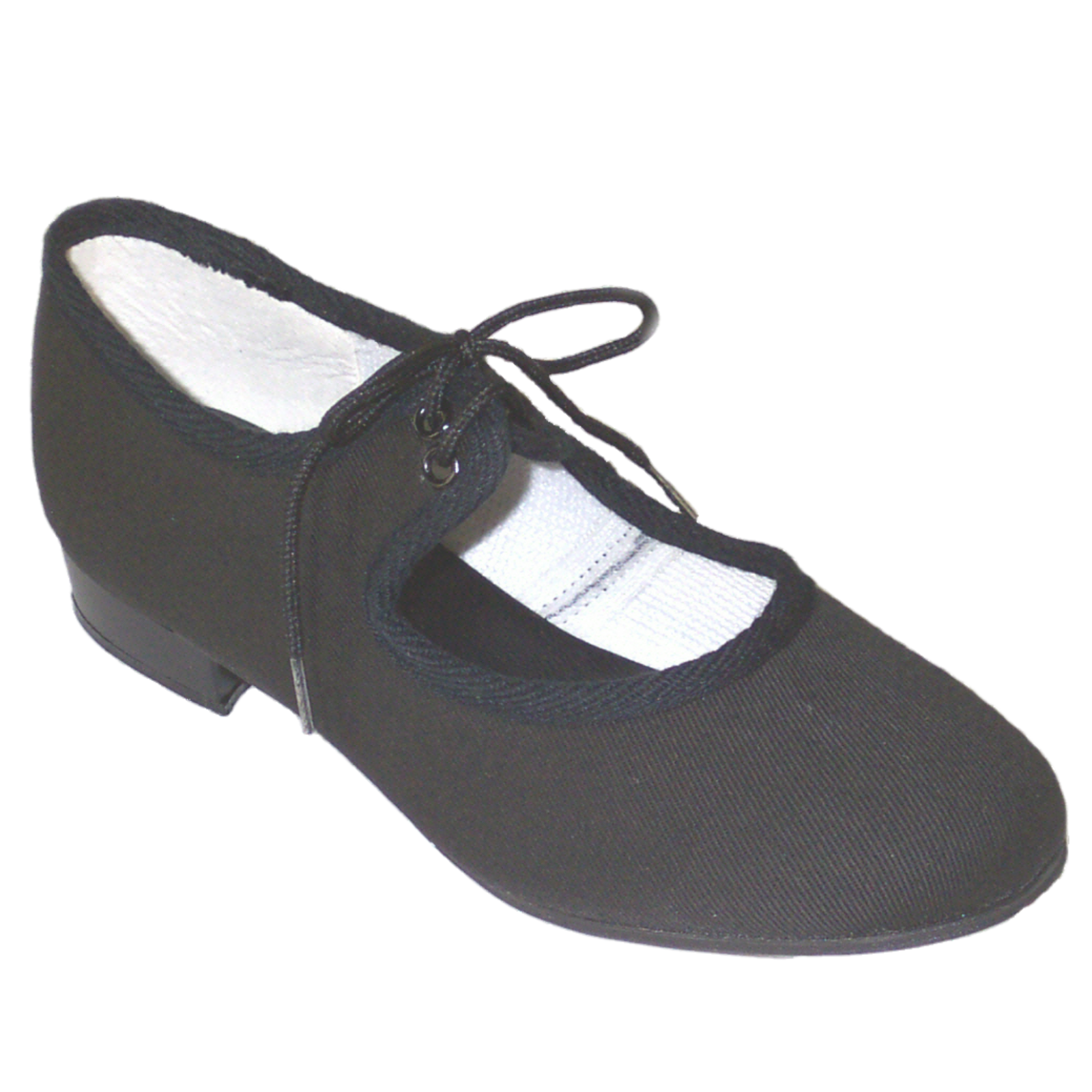 most popular 50% off store BLACK CANVAS LOW HEEL TAP SHOES - Dancers World