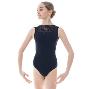 BASILICA DANCEWEAR LINDA LACE OPEN BACK LEOTARD