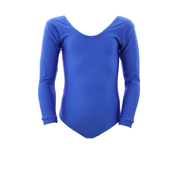 BETHAN - LONG SLEEVE PLAIN FRONT LEOTARD