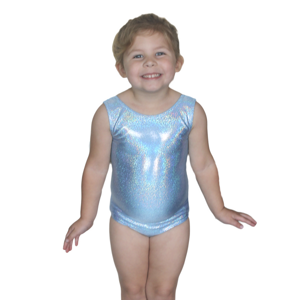 CLARA - FROZEN HOLOGRAM SHINE SLEEVELESS LEOTARD