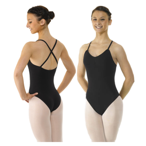 CAMISOLE LEOTARD - CROSS STRAPS & RUCHED FRONT - Click Dancewear