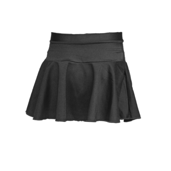 SHORT CIRCULAR SKIRT ON BASQUE - Click Dancewear - 1