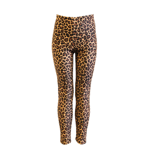 CHEETAH ANIMAL PRINT FOOTLESS TIGHTS/ LEGGINGS - Click Dancewear