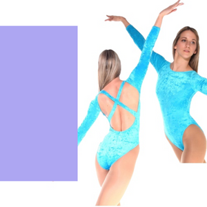 FRANCINE - LILAC LOW BACK LYCRA X BACK LEOTARD - SIZE 4 (DRESS SIZE 10-12)