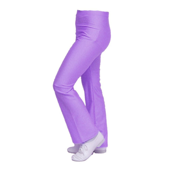LILAC NYLON LYCRA DANNI JAZZ PANTS / TROUSERS - Click Dancewear