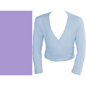 HARRIET - COTTON LYCRA CROSSOVER WRAP CARDIGAN