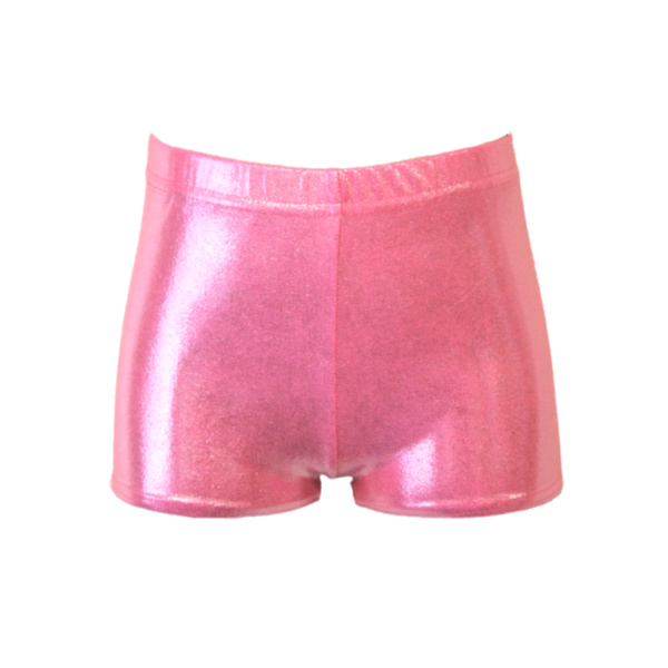 PALE PINK SHINE HIPSTER HOTPANTS / SHORTS - Click Dancewear