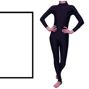 LAUREN - LONG SLEEVE POLO NECK CATSUIT