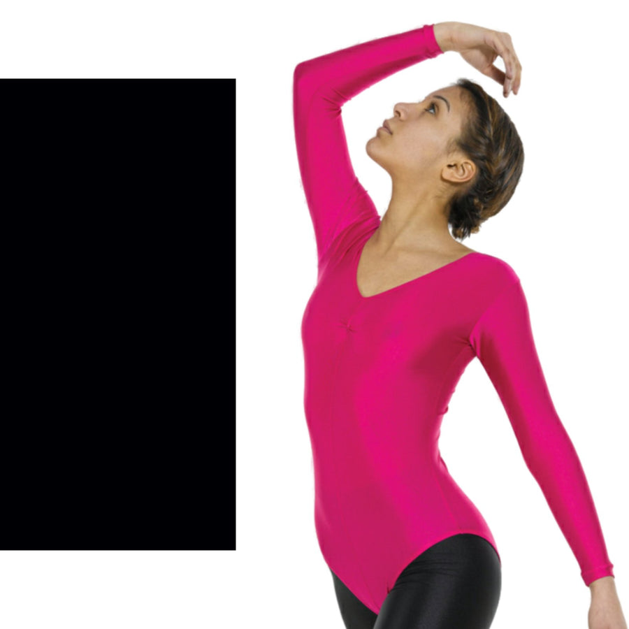 TAPPERS & POINTERS LONG SLEEVE GATHERED FRONT LEOTARD