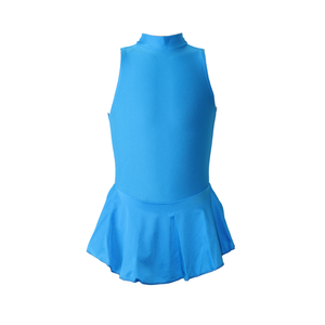 LOTTIE - KINGFISHER POLO NECK SLEEVELESS SKIRTED LEOTARD