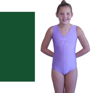 LOUISE - SLEEVELESS GATHERED FRONT LEOTARD