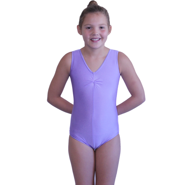 LOUISE - SLEEVELESS GATHERED FRONT LEOTARD - SUBTLE COLOURS