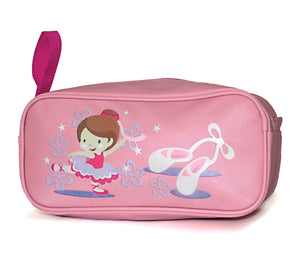 PINK PVC SHOE BAG WITH LITTLE BALLERINA DESIGN - Click Dancewear