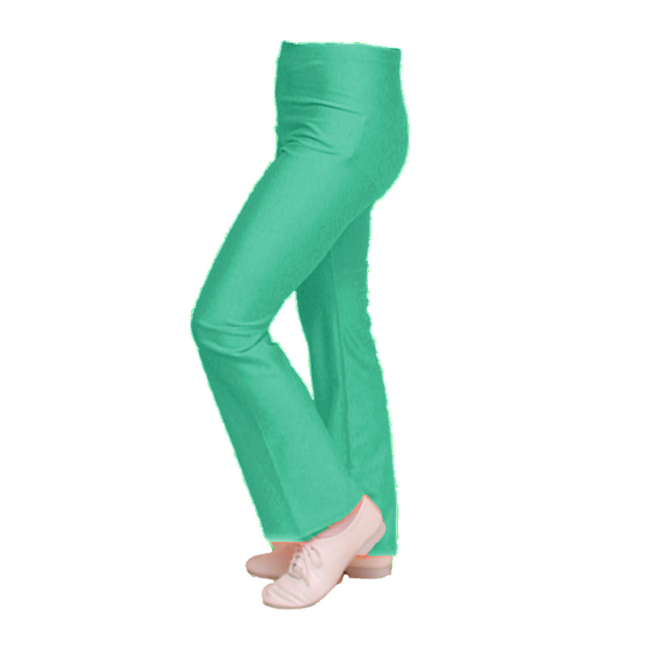 DANNI - JADE GREEN NYLON LYCRA JAZZ PANTS / TROUSERS