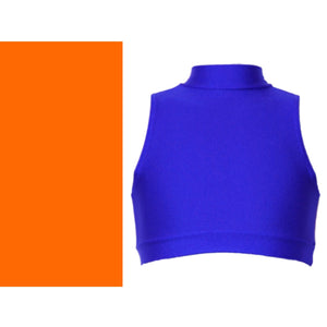 ROSIE - SLEEVELESS POLO NECK CROP TOP